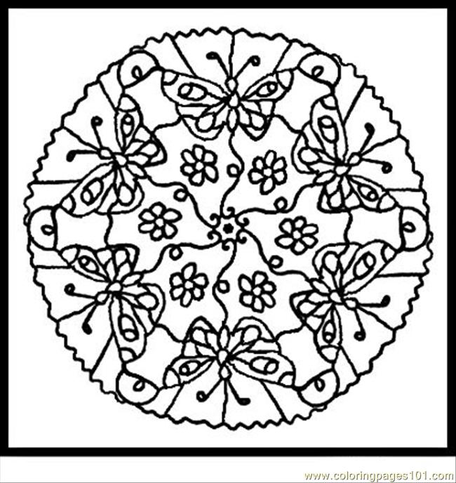 Coloring Pages Animal Mandalas 3 Insects Gt Butterfly