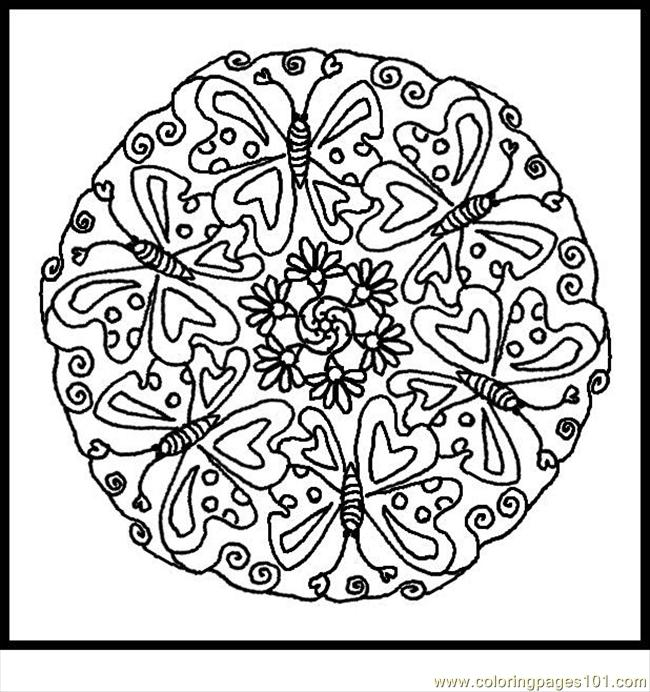 Coloring Pages Butterfly3 Insects