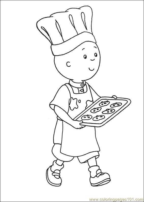 Coloring Pages Caillou Coloring Pages 008 Cartoons