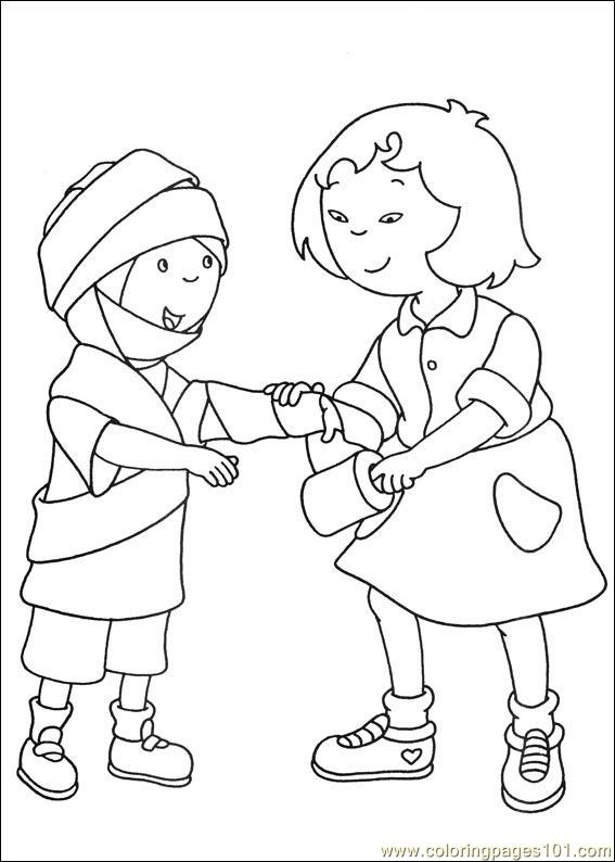Coloring Pages Caillou Coloring Pages 022 Cartoons