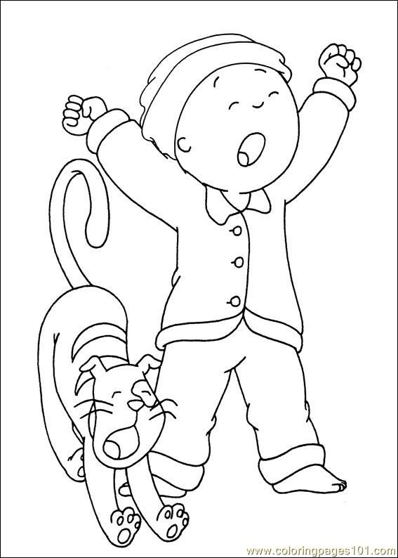 Caillou Coloring Pages Pdf : Caillou coloring pages
