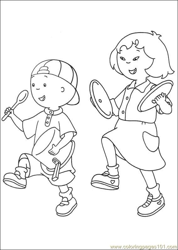 Free Printable Coloring Page Caillou Coloring Pages 042  Cartoons