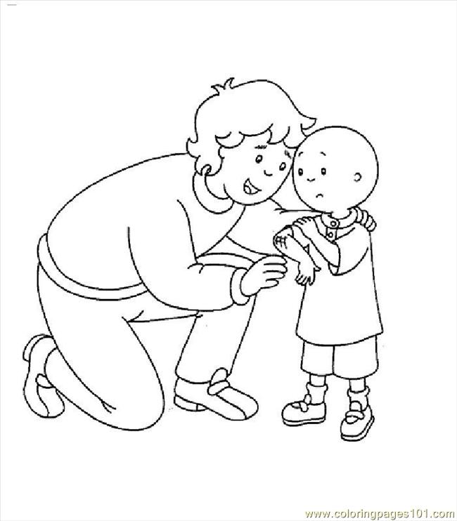 Coloring Pages Caillou005 Cartoons Gt Caillou Free Caillou Coloring Page