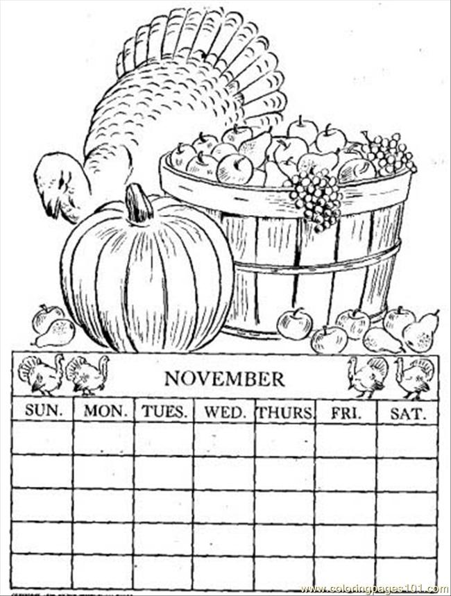 Coloring Pages Calendar (Other > Calendar) - free printable coloring ...