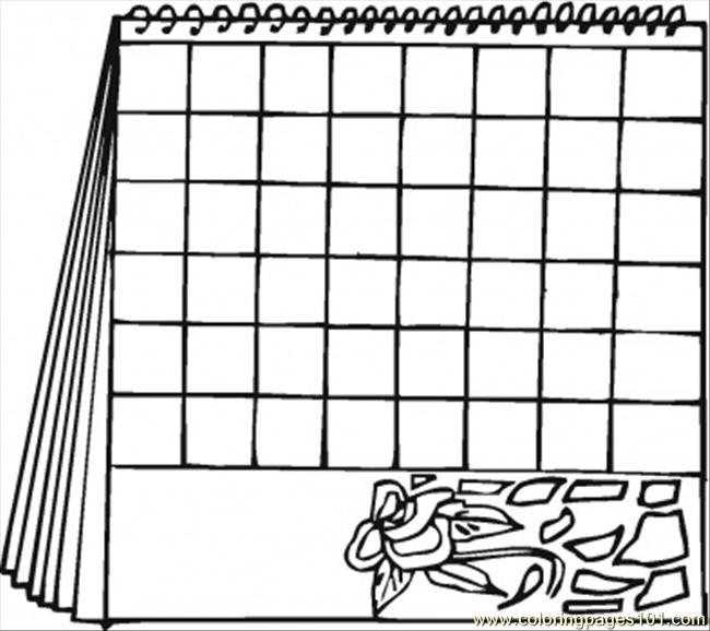 """Blank Calendar Coloring Pages : Search results for """"colouring calender small"""