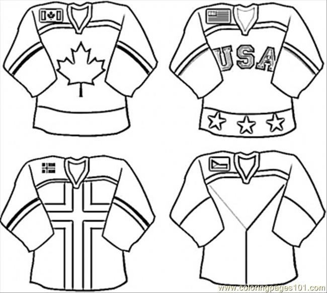Coloring Pages Unifrom For Hockey