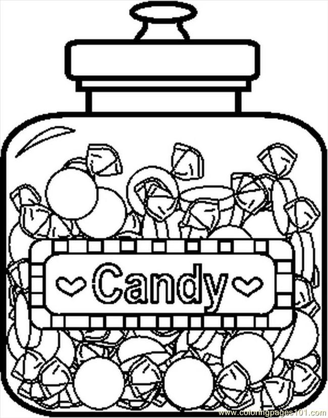 Candyjar4bw Coloring Page