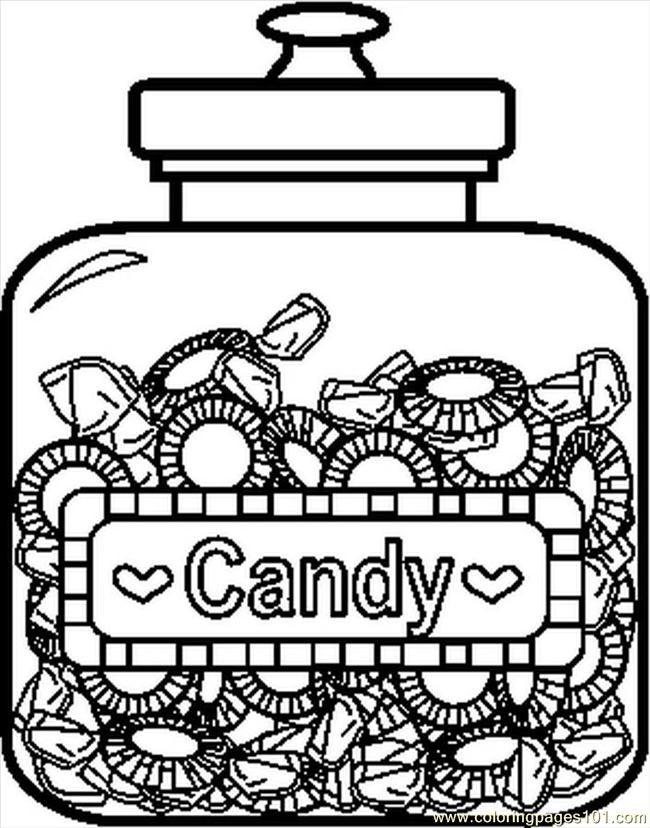 coloring pages candyjar6bw food fruits candy free printable coloring page online