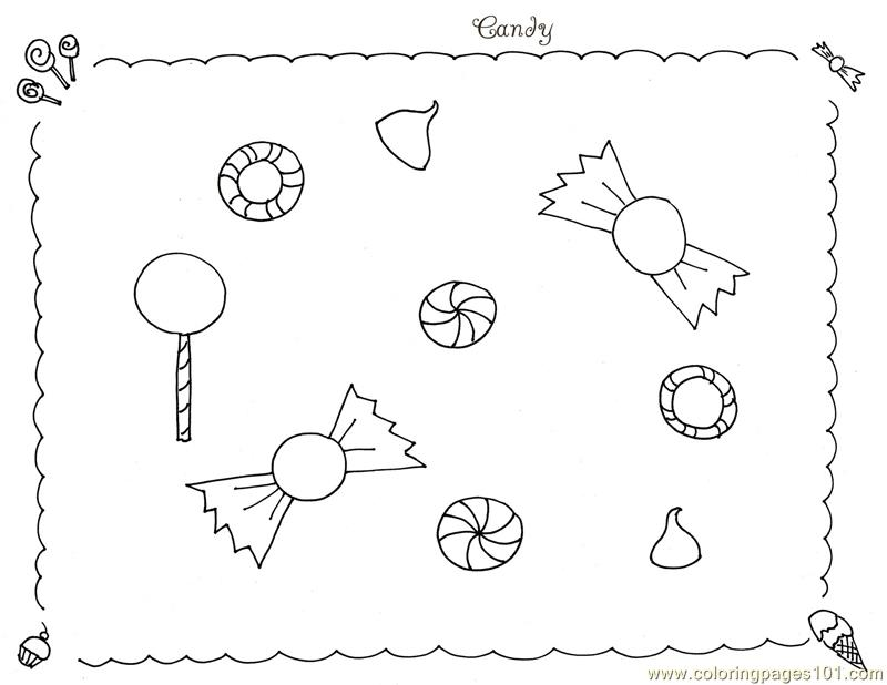 candy coloring pages and fruits - photo#19