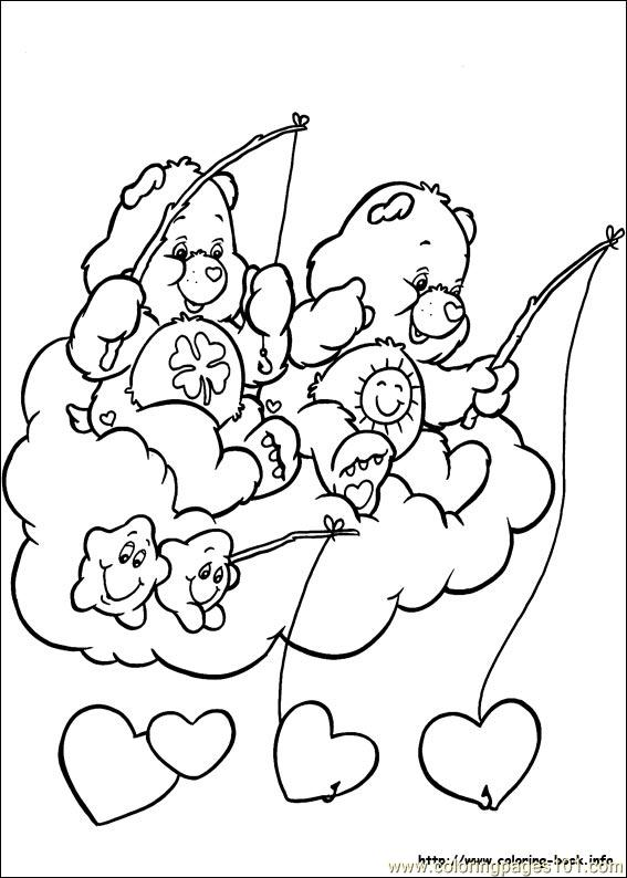 care bears coloring pages birthday bear beanie   Coloring Pages Care Bears8 (Cartoons > Care Bears) - free ...