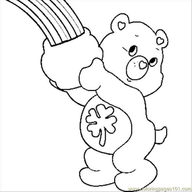 care bear coloring pages christmas - photo#34