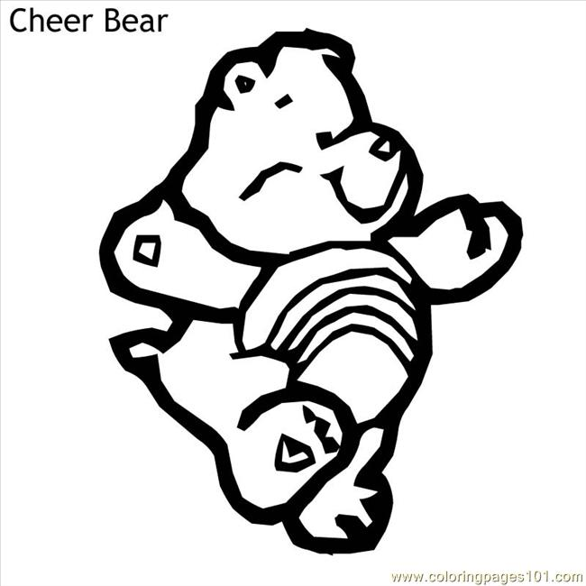 coloring pages cheer bear  cartoons  gt  care bears  free printable coloring page online Care Bears Coloring Pages Printable  Cheer Bear Care Bear Coloring Pages