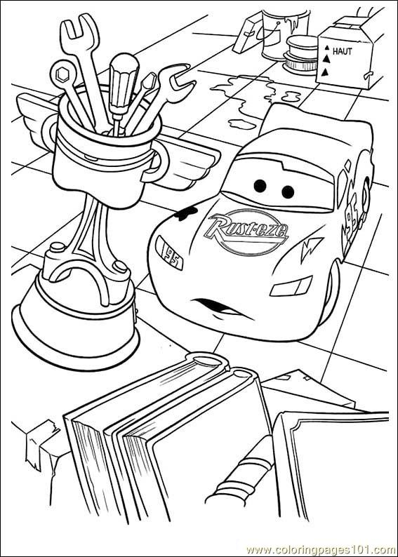 ... Pages Disney Cars09 (Cartoons > Cars) - free printable coloring page