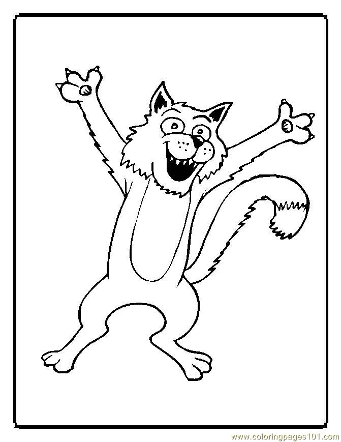 Coloring Pages Cats Mammals gt