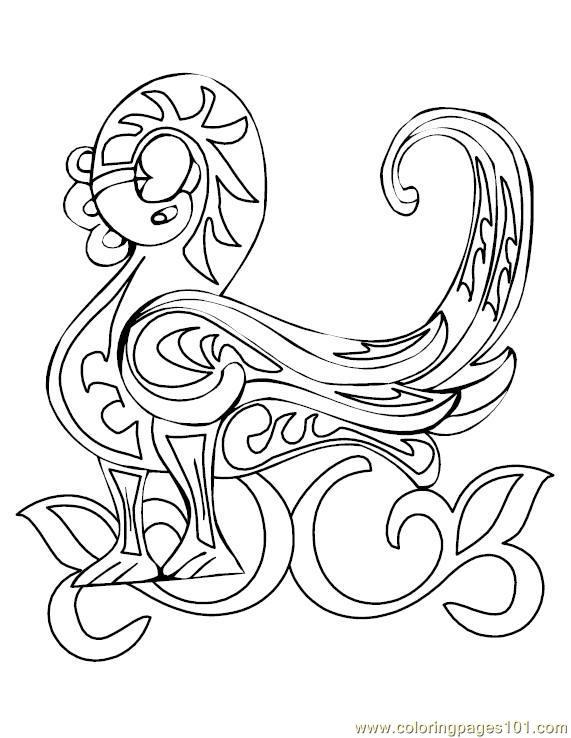 celtic alphabet coloring pages - photo#9