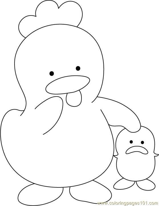 hen and chicks coloring pages - photo#36