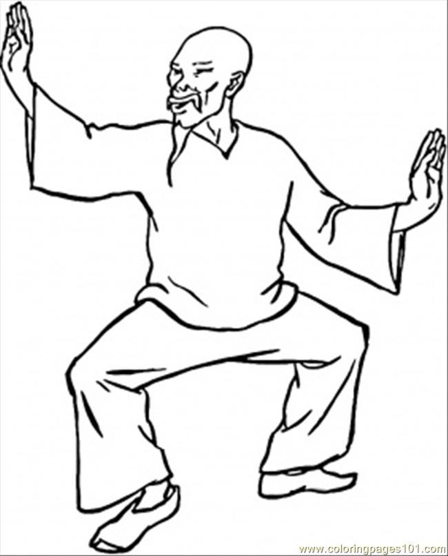 kun fu colouring pages