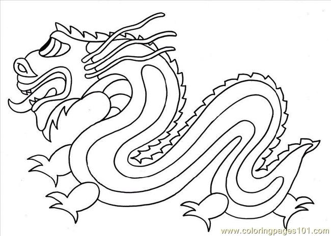 Coloring Pages Photo Chinese Dragon