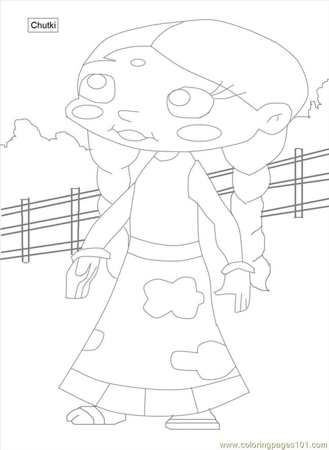 Coloring Pages Chota Bheem Coloring