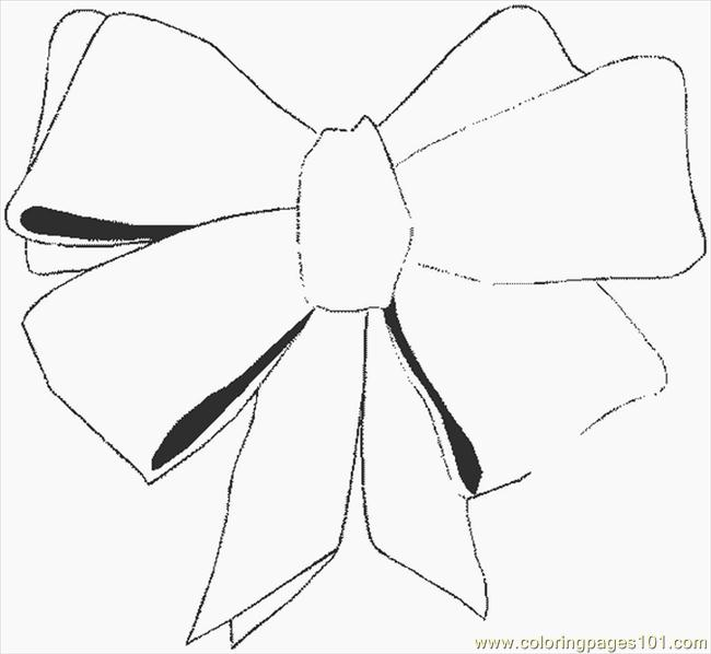 christmas bow coloring pages - photo #40