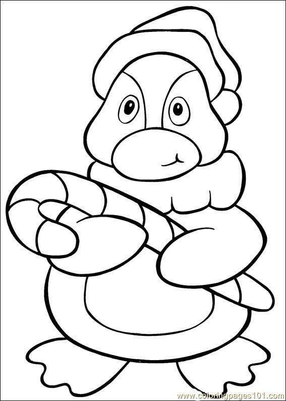free christmas cartoon coloring pages - photo#6