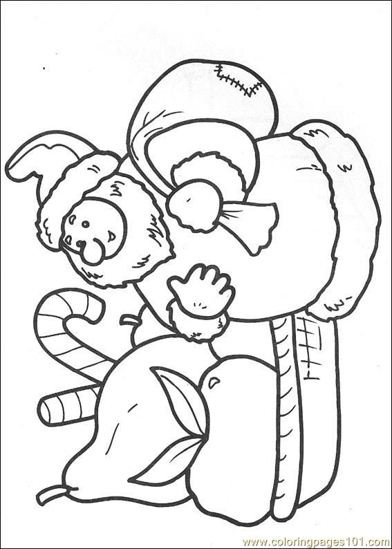 cartoon christmas coloring pages - photo#18