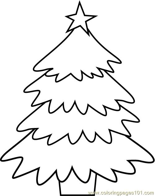 Christmas Tree Coloring Page 2