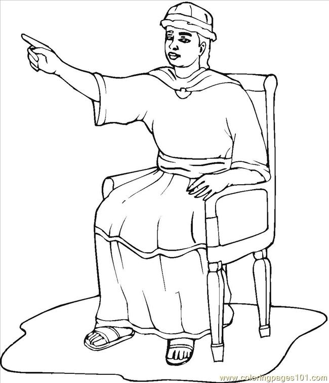 Free Solomon King Coloring Pages