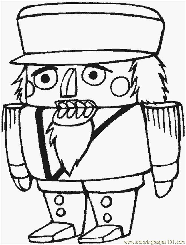 free printable coloring image Nutcracker
