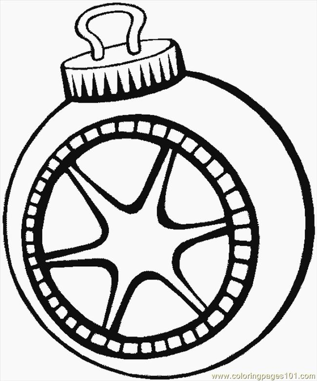 Christmas Ornament Coloring Pages Sheet Pictures to Pin on