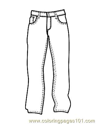 It is a photo of Declarative Pants Coloring Page