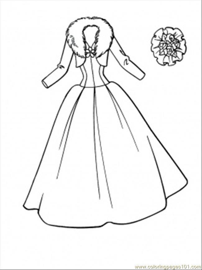 Printable Wedding Coloring Book Pages : Coloring pages wedding dress entertainment gt clothing