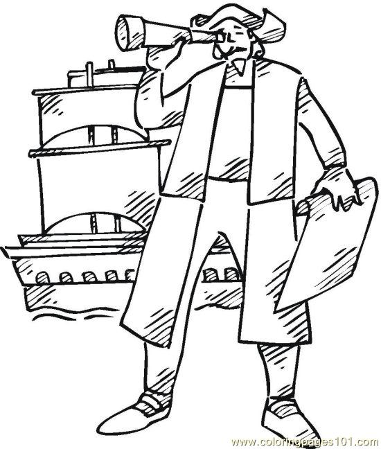 free columbus day coloring pages - photo#21
