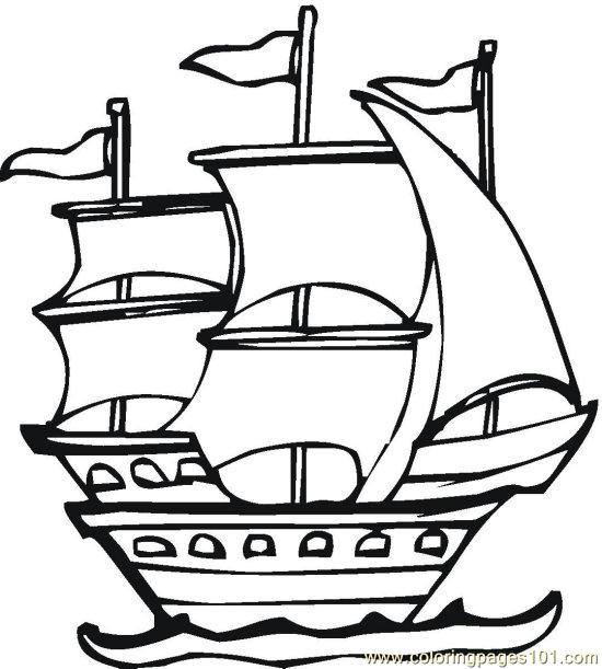 free columbus day coloring pages - photo#35