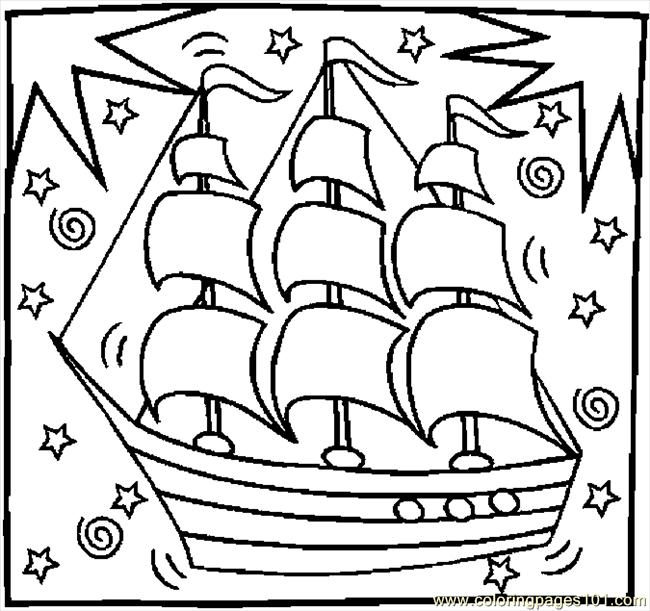 columbus ships coloring pages - photo #29