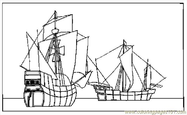 columbus ships coloring pages - photo #46