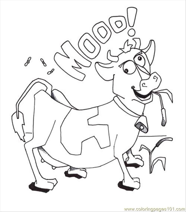 free cow coloring pages - coloring cow picture free coloring pages