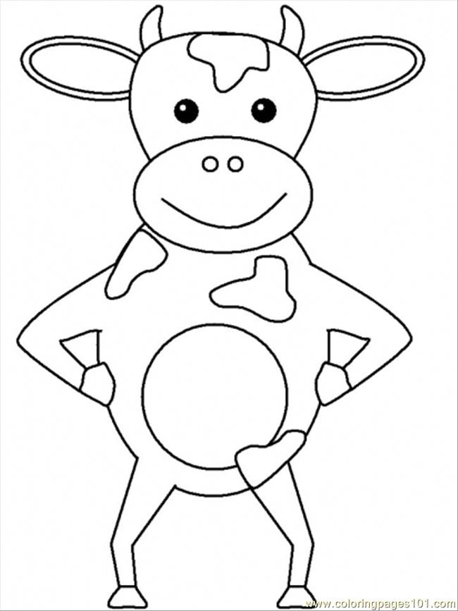 free coloring pages of cow head