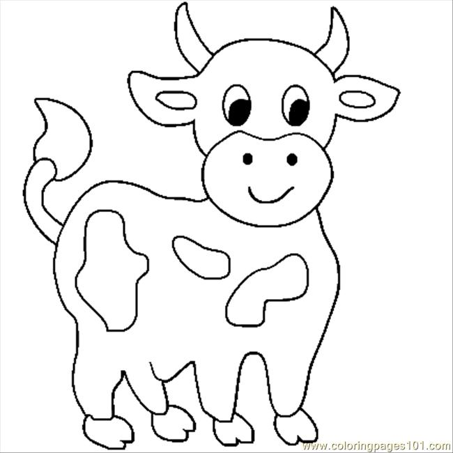 Coloring Pages Animals Cow : Free coloring pages of a highland cow