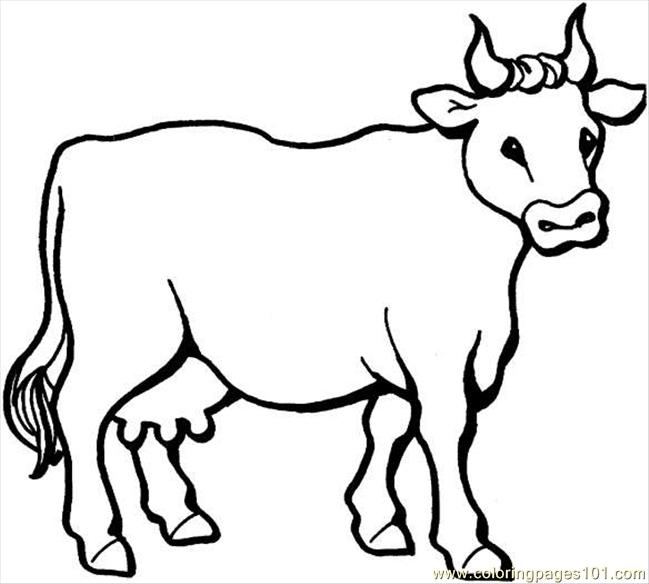 Cow 6 Coloring Page Coloring Pages Of Cows
