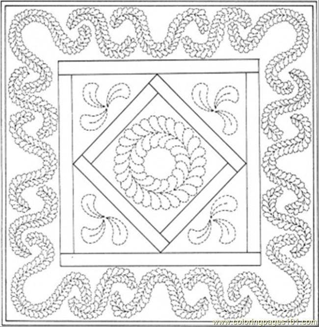 Coloring Pages Birthday Quilt (Other > Decorations) - free printable coloring page online