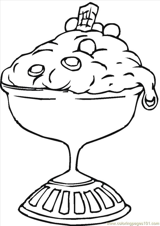 Hard dessert coloring pages - photo#21