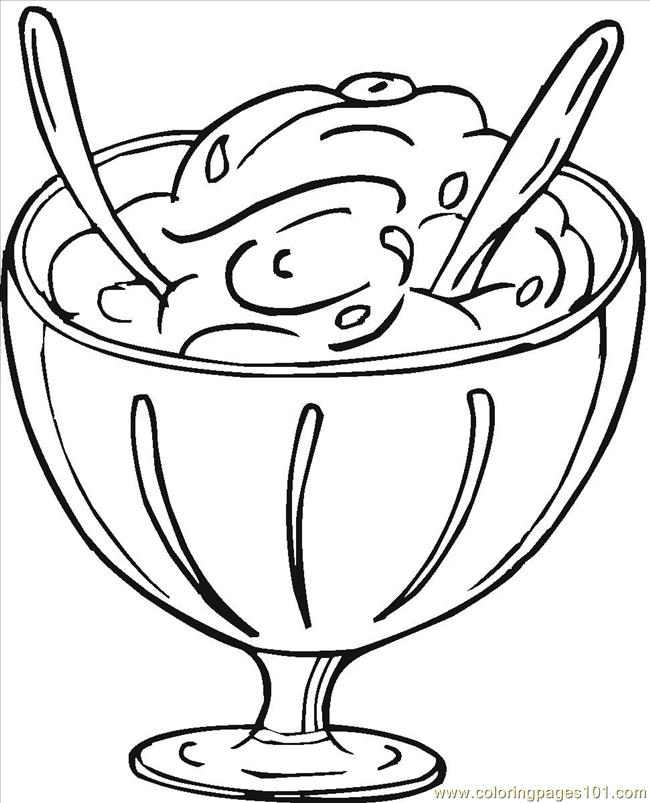 Hard dessert coloring pages - photo#11