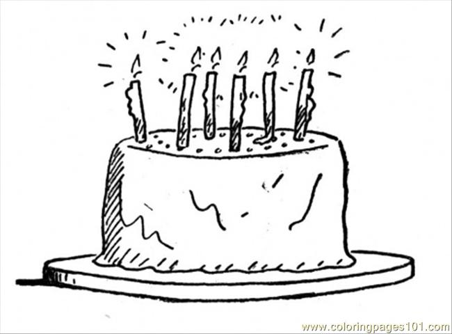 Coloring Pages Birthday Cake Food Amp Fruits Gt Desserts