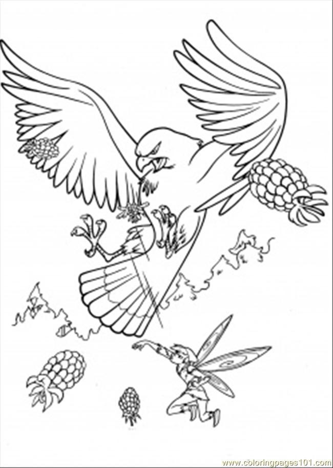 Coloring Pages Big Hawk Cartoons Gt Disney Fairies