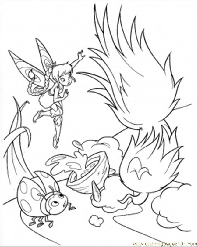 Coloring Pages Ladybird With Tinkerbell (Cartoons > Disney Fairies ...