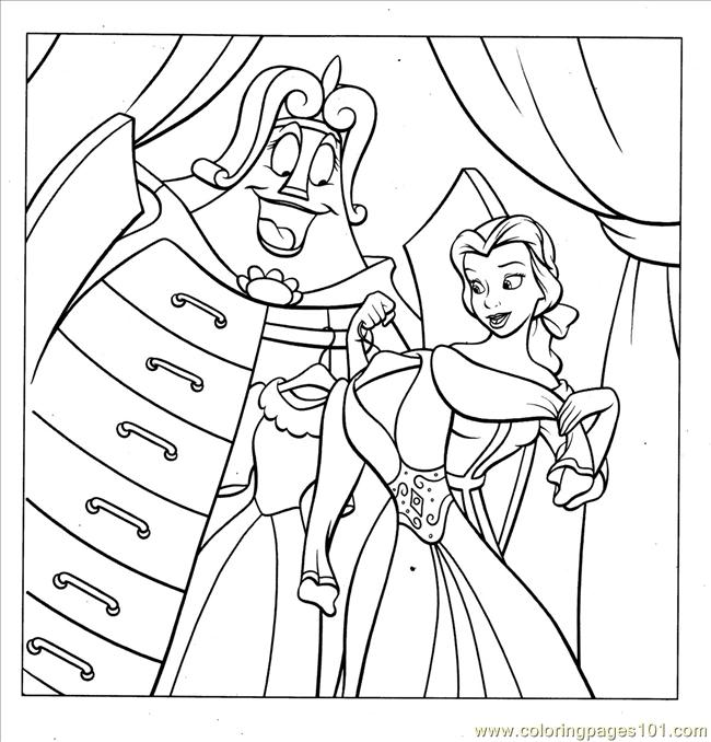 coloring pages disney princess belle. Color this Page Online! free