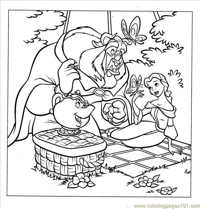 disney princesses coloring pages belle. Coloring Pages Princess Belle