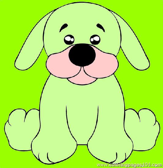 Free Coloring Pages Puppy. Color this Page Online! free
