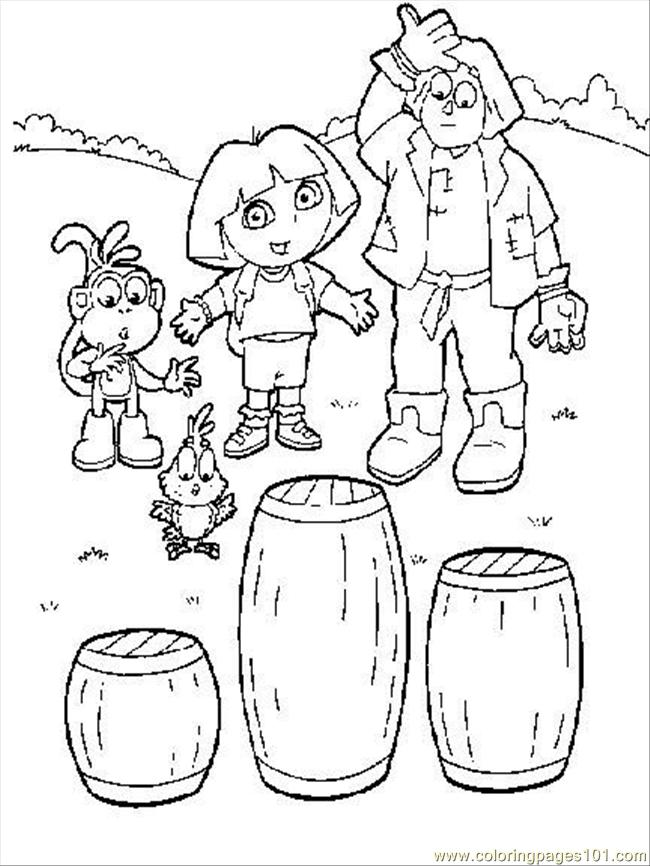Coloring Pages Dora6 Cartoons Gt Dora The Explorer